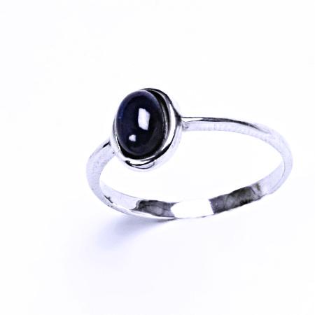 Stříbrný prsten safír přírodní prsten stříbro šperky, T 1354