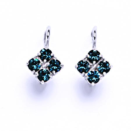 Náušnice stříbrné s krystaly Swarovski Blue Zirkon, šperky, NK 1324