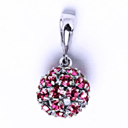 Stříbrný přívěšek koule se Swarovski krystalem přívěsek rose P 1344