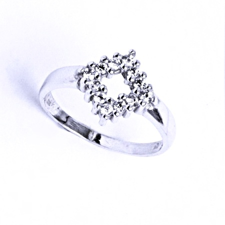 Stříbrný prsten se syntetickým zirkonem VR 190