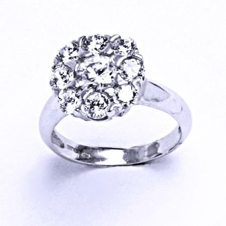 Stříbrný prsten se syntetickým zirkonem VR 226