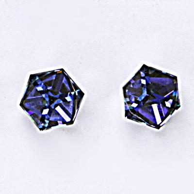Stříbrné náušnice, krystal Swarovski, heliotrop, šperky s krystaly, NŠ 1230