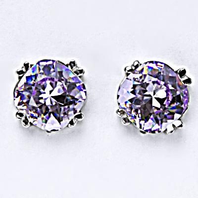 Stříbrné náušnice, krystal Swarovski, lavender, šperky s krystaly, NŠ 1225