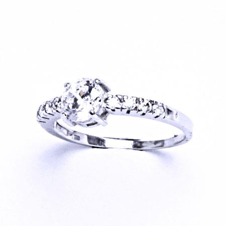 Stříbrný prsten se syntetickým zirkonem VR 312