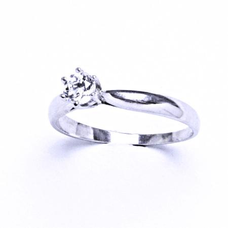 Stříbrný prsten se syntetickým zirkonem VR 329