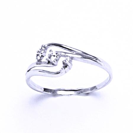 Stříbrný prsten se syntetickým zirkonem VR 203