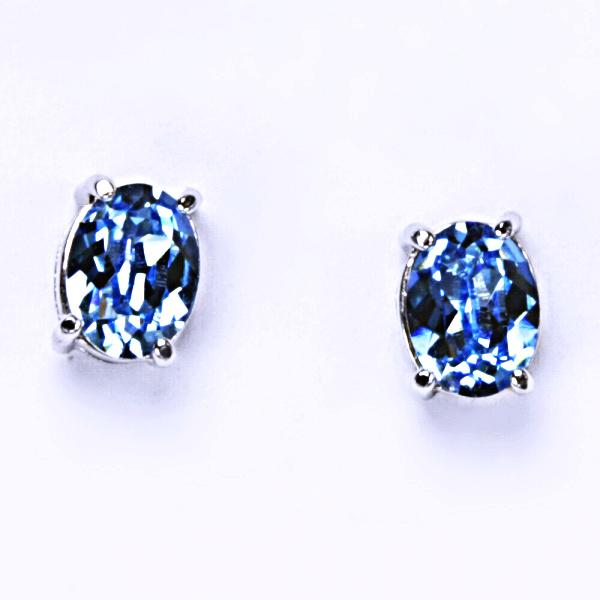 Stříbrné náušnice, krystal Swarovski, šperky s krystaly, NŠ 1245