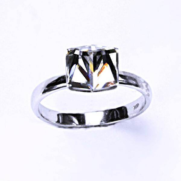 Stříbrný prsten, krystal Swarovski ,crystal, šperky s krystaly, T 1230