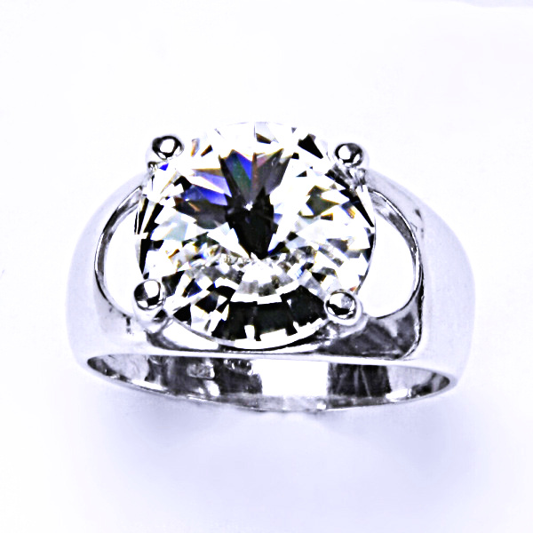 Stříbrný prsten, krystal Swarovski, crystal, šperky s krystaly, T 1188