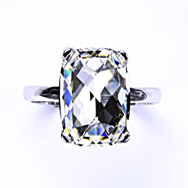 Stříbrný prsten, krystal Swarovski, crystal, šperky s krystaly, T 1283