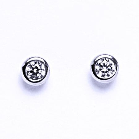 Náušnice stříbrné se zirkony, náušnice ze stříbra 000760951141 VE 76