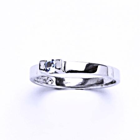 Stříbrný prsten se akvamarinem, prsten ze stříbra VR 36