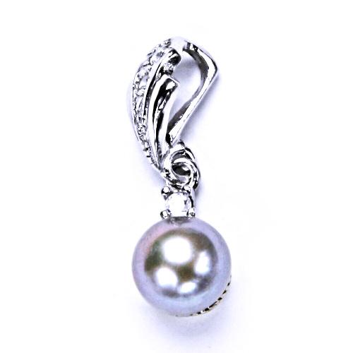 Stříbrný přívěšek, šperky(përla přírodní stříbrná 8 mm)P 1207/1