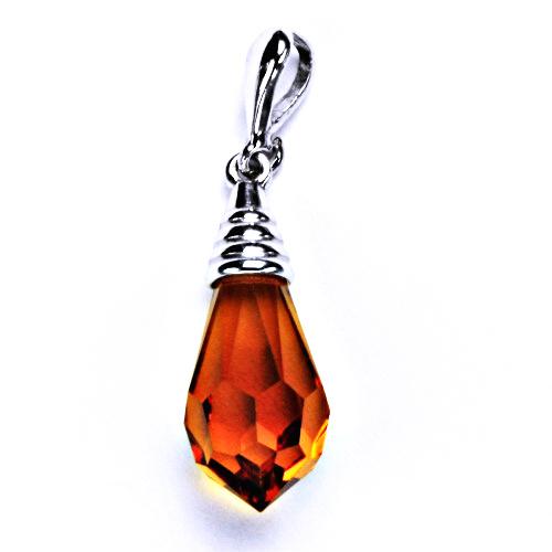 stříbrný přívěšek krystal šperky topaz, P 1200/22