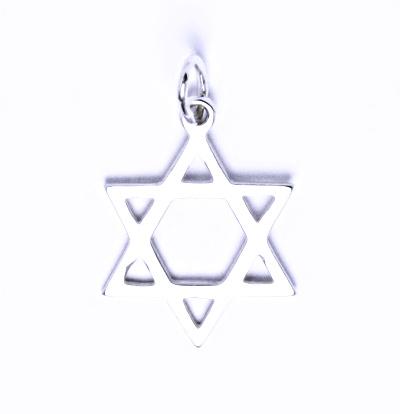 Stříbrný přívěšek, Davidova hvězda,P 731