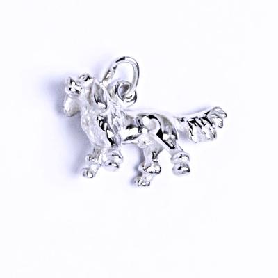 Stříbrný přívěšek, Bernský salašnický pes figurka, P 305