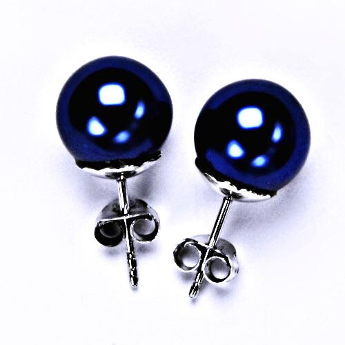 Umělá perla, NŠ1194 stříbrné šperky náušnice, puzeta
