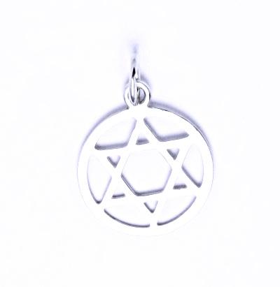 Stříbrný přívěšek Davidova hvězda v kruhu P 1314