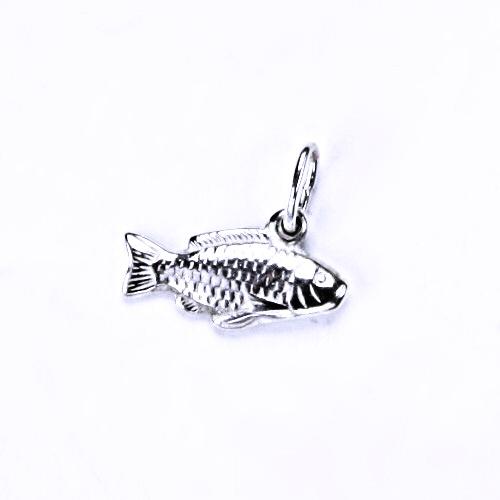 Stříbrný přívěšek kapr, stříbrné šperky, P 849