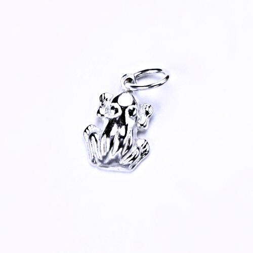 Stříbrný přívěšek žába, stříbrné šperky, P 850