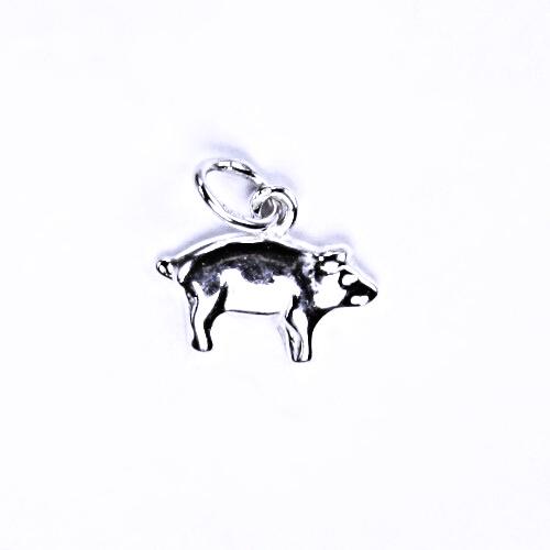 Stříbrný přívěšek prasátko, stříbrné šperky, P 878