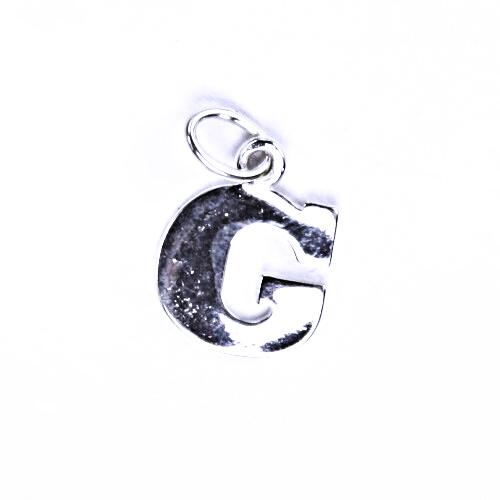 Stříbrný přívěšek G, stříbrné šperky P 904