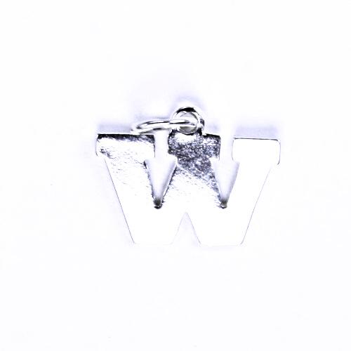 Stříbrný přívěšek W, stříbrné šperky P 904