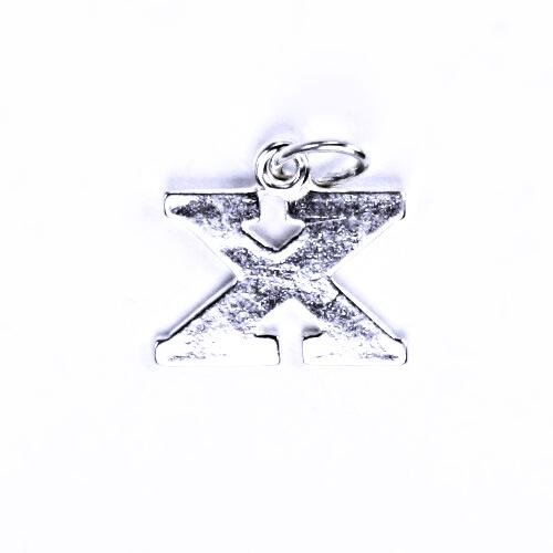 Stříbrný přívěšek X, stříbrné šperky, P 904
