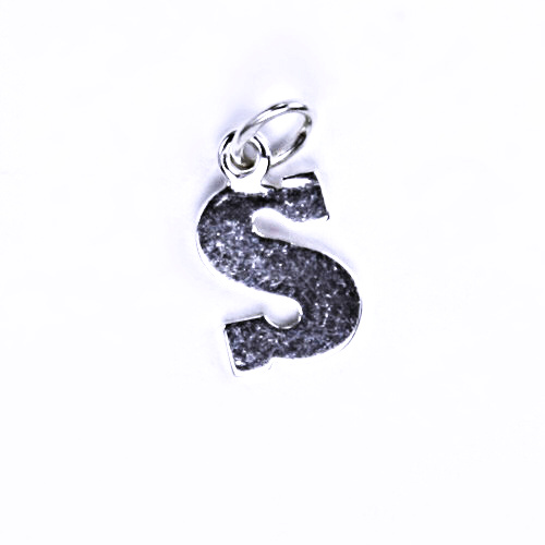 Stříbrný přívěšek S, stříbrné šperky P 904