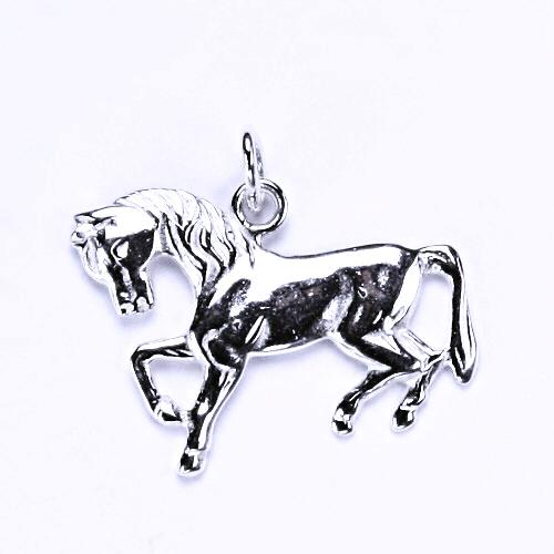 Stříbrný přívěsek, kůň, přívěsek ve tvaru koně, stříbro, P 3
