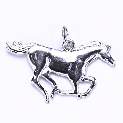 Stříbrný přívěšek - běžící kůň, přívěsek ve tvaru koně, P 58