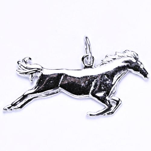 Stříbrný přívěsek - kůň ve skoku, přívěsek ve tvaru koně, stříbro, P 59