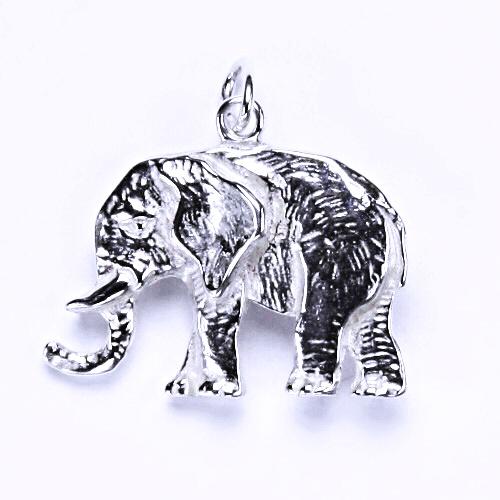 Stříbrný přívěšek, slon, stříbrné šperky, P 732