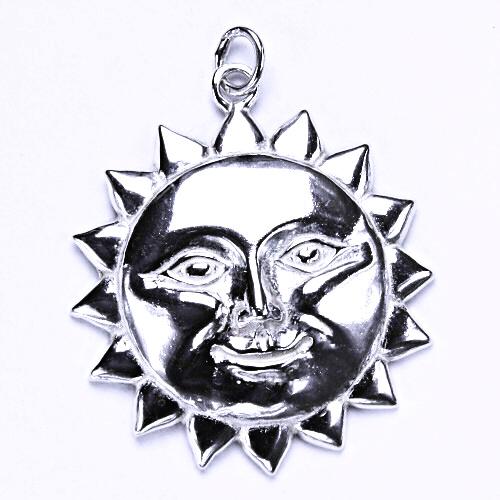Stříbrný přívěšek, slunce, stříbrné šperky, P 823