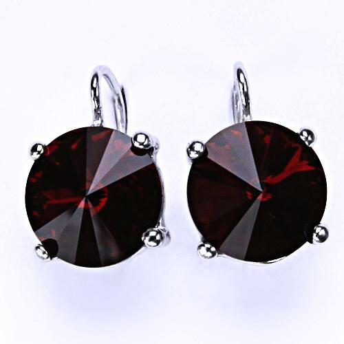 Stříbrné šperky, Swarovski krystal Rivoli siam, NK 1188
