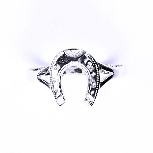 Stříbrný prsten, stříbrné šperky, podkova, T 10