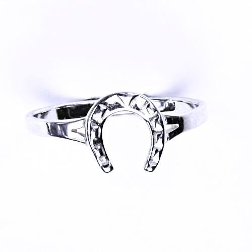 Stříbrný prsten, stříbrné šperky, podkova, prstýnek ze stříbra, T 11