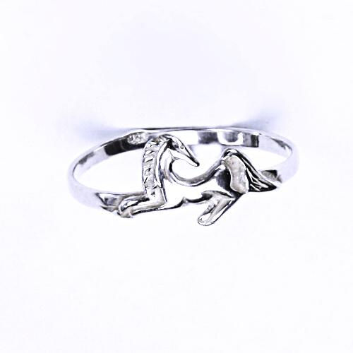 Stříbrný prsten, stříbrné šperky, kůň, T 60