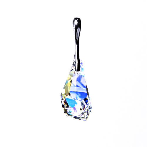 Stříbrný přívěšek,šperky, Swarovski krystal (Polygon drop 21 mm AB crystal) P 1295
