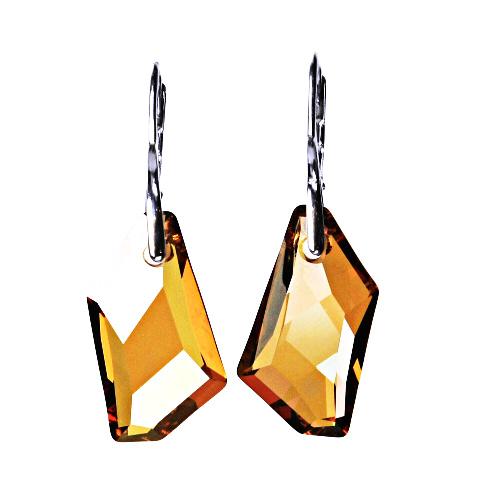 Stříbrné náušnice se Swarovski krystalem, patent 5, NK 1295