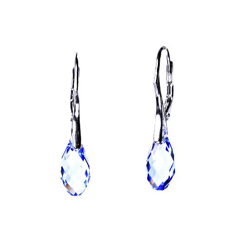 Stříbrné náušnice, šperky, Swarovski krystal, patent, naušnice ze stříbra