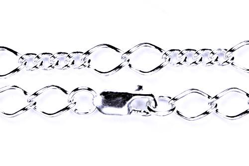 Stříbrný řetízek , šperky, řetízek ze stříbra, 30
