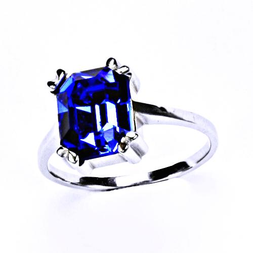 Stříbrný prsten, šperky (SAPPHIRE)T 1201