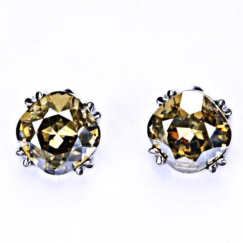 Stříbrné náušnice, Swarovski krystal, šroubek 4, NŠ 1225