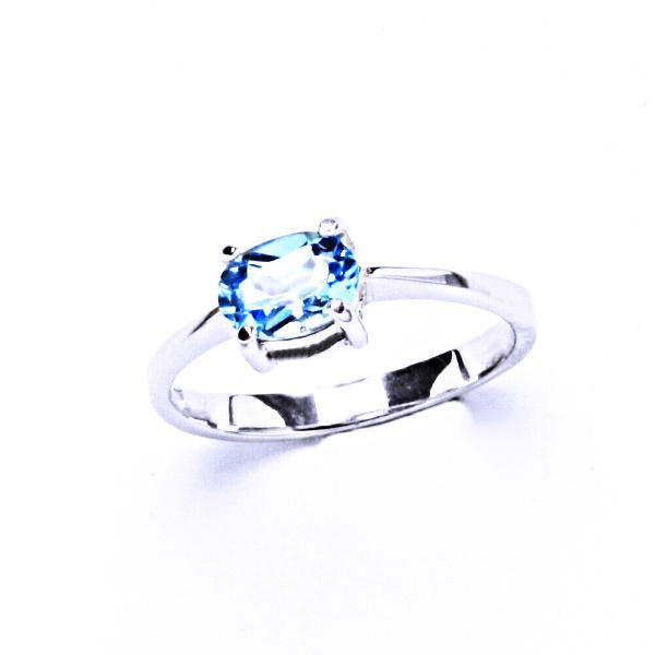 Stříbrný prstýnek, přírodní topaz swiss, prsten ze stříbra, T 1246