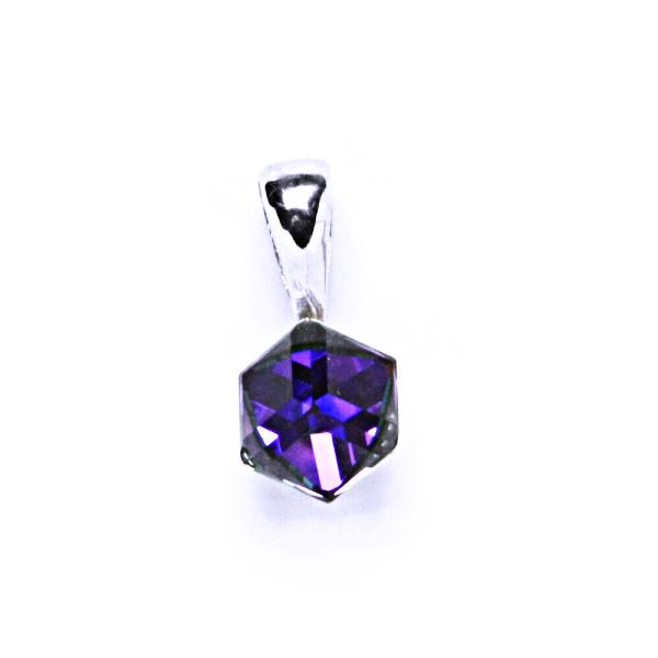Stříbrný přívěšek, krystal Swarovski, heliotrop, šperky s krystaly, P 1230