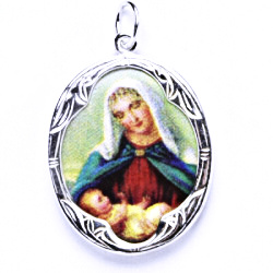 Stříbrný přívěšek, stříbrné šperky P 1013 madonka (K)