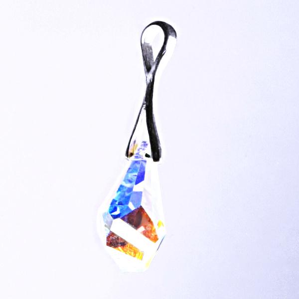 Stříbrný přívěšek, šperky Swarovski krystal AB 17 mm P 1295