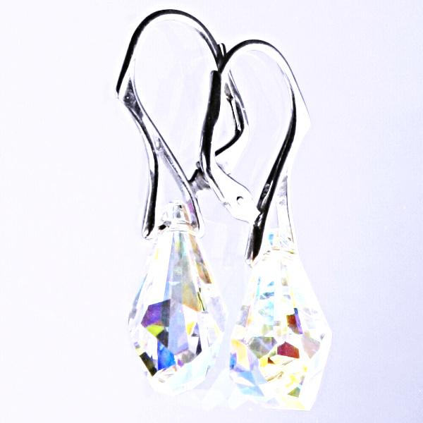 Stříbrné náušnice šperky Swarovski krystal patent NK 1295