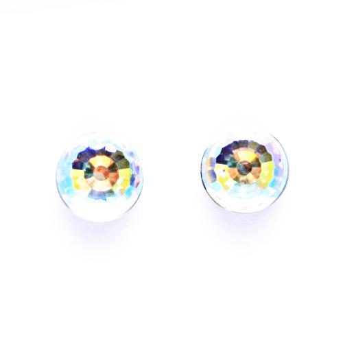 Náušnice stříbrné s krystalem Swarovski AB, disco koule Nš 1311